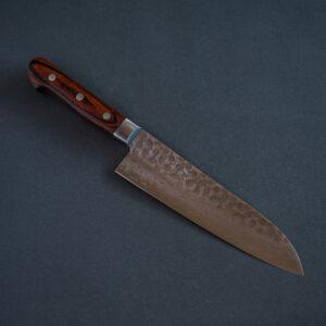 Cuchillo Japones Santoku Damasco Zen-Pou 185mm